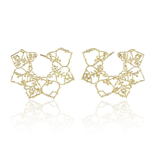 Natalie Perry Jewellery, Lace Mandala Earrings in Fairtrade Gold