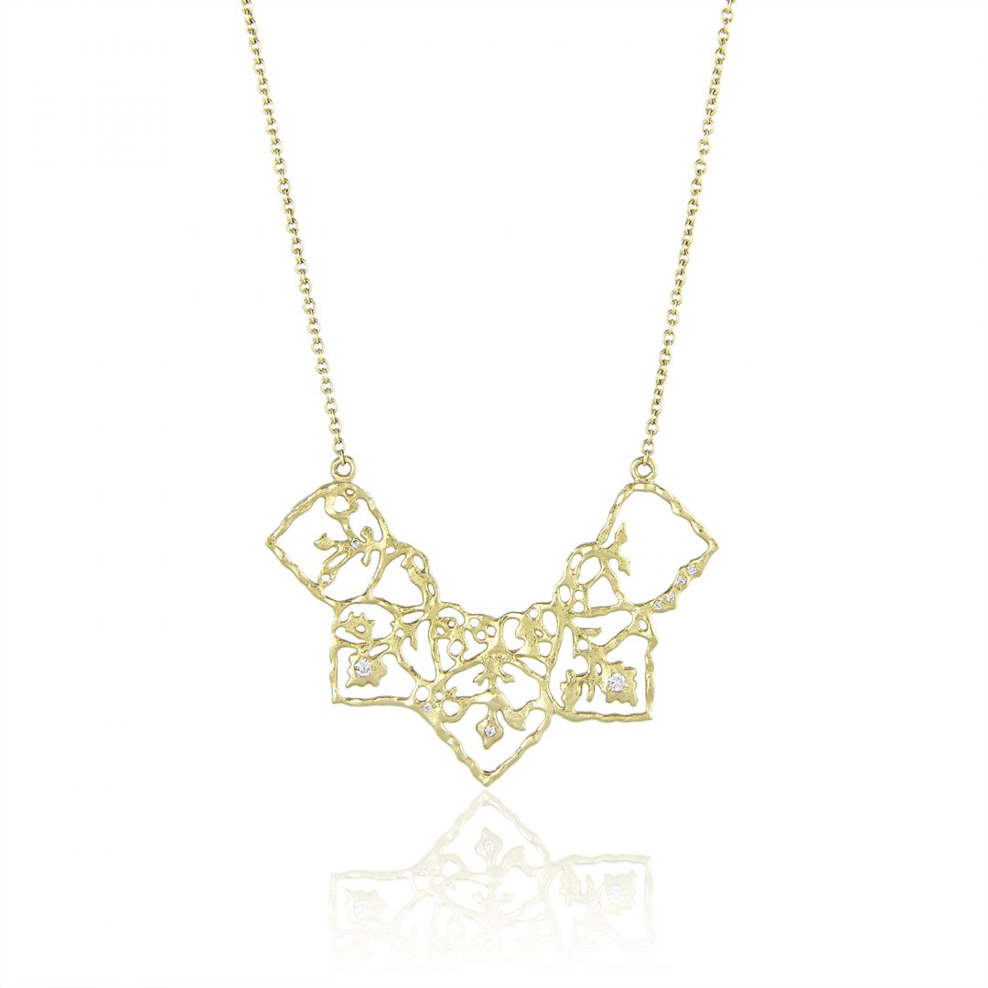 Natalie Perry Jewellery, Half Flower Necklace in 18ct Fairtrade Gold