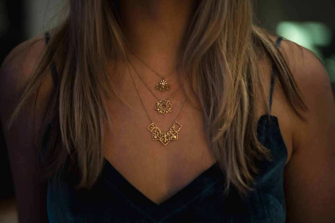 Natalie Perry Jewellery filigree necklaces