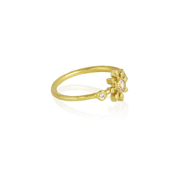 Natalie Perry Gemstone & diamond flower ring