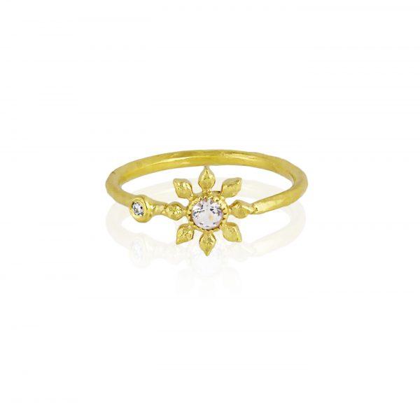 Natalie Perry, Gemstone Flower Ring
