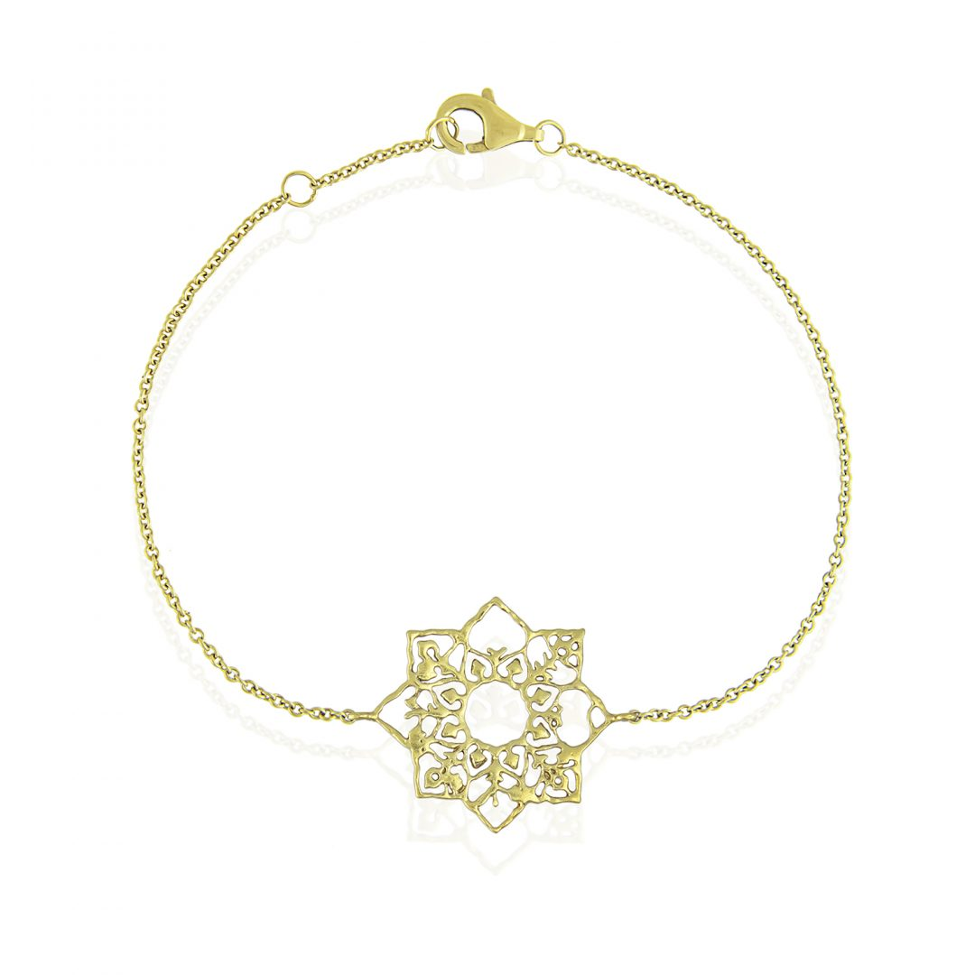 Natalie Perry Jewellery, Mandala Bracelet in Fairtrade Gold