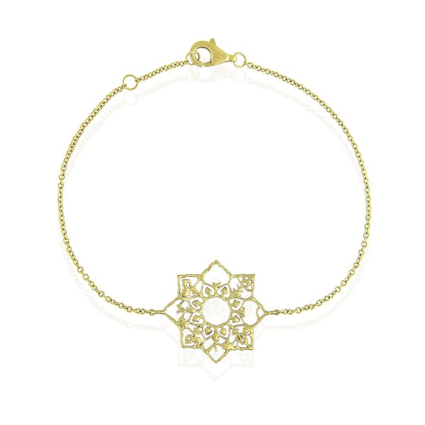 Natalie Perry Jewellery, Mandala Bracelet in Fairtrade Gold