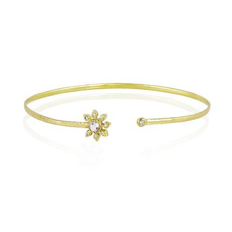 Natalie Perry, Gemstone Flower Cuff