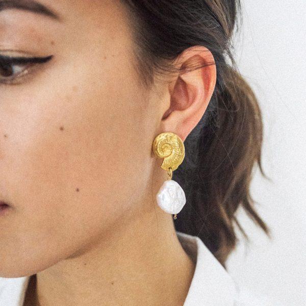 Natalie Perry Ammonite Earrings