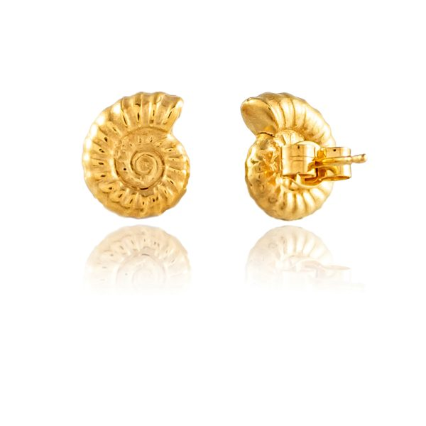 Natalie Perry, Ammonite Stud Earrings