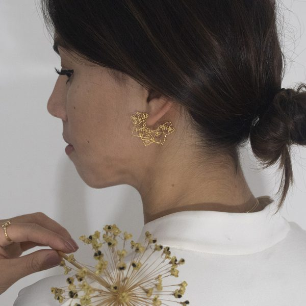 Natalie Perry, Mandala Hoops in Fairtrade Gold