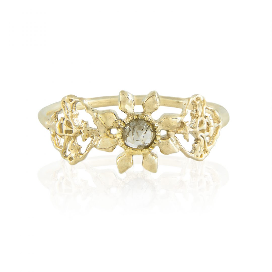Natalie Perry, Triple Petal Ring in Fairtrade Gold (2)