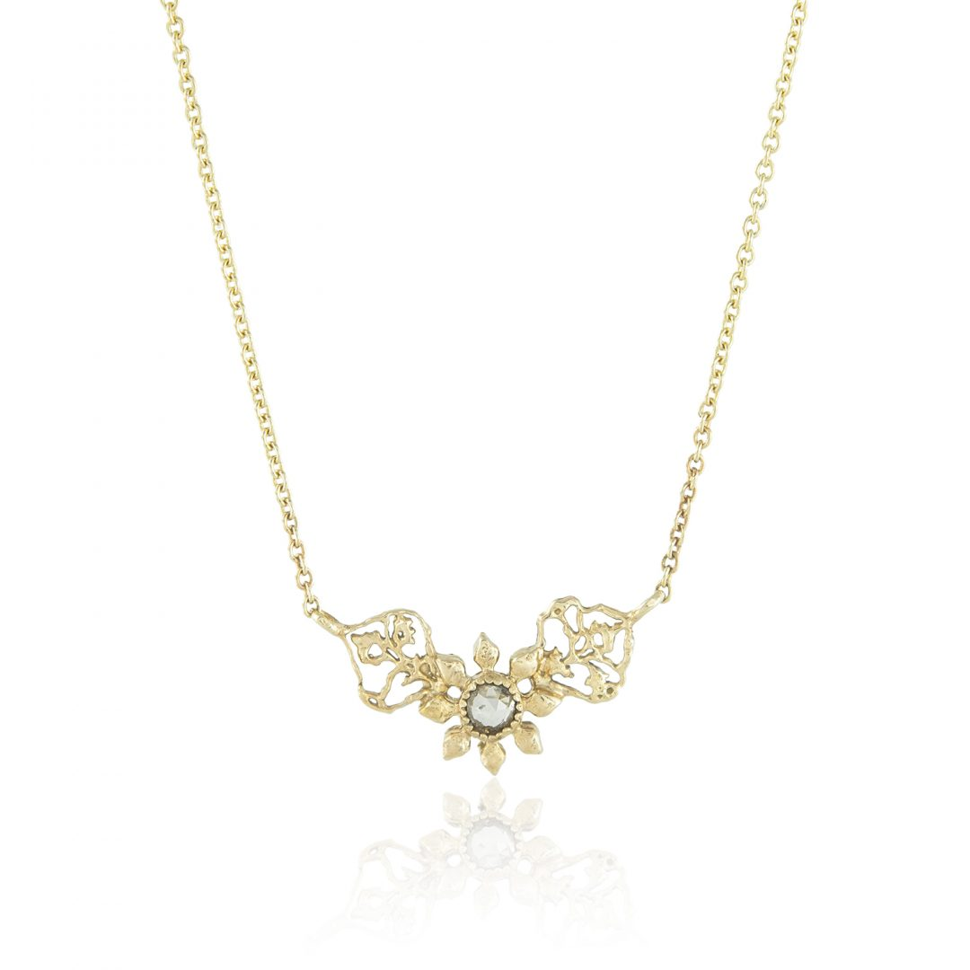Natalie Perry, Triple Petal Necklace in Fairtrade Gold