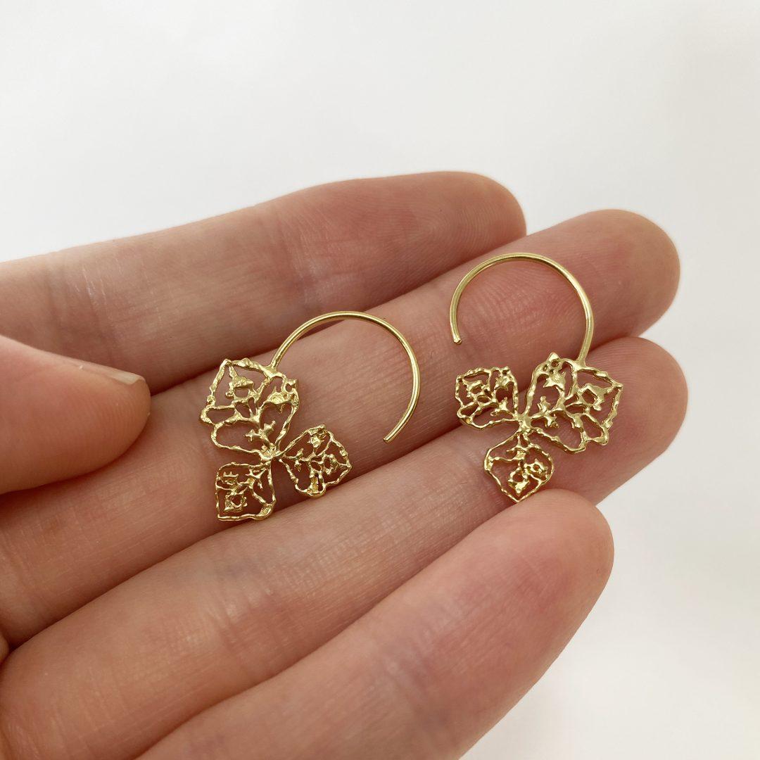 Natalie Perry Jewellery, Triple Petal Hoops