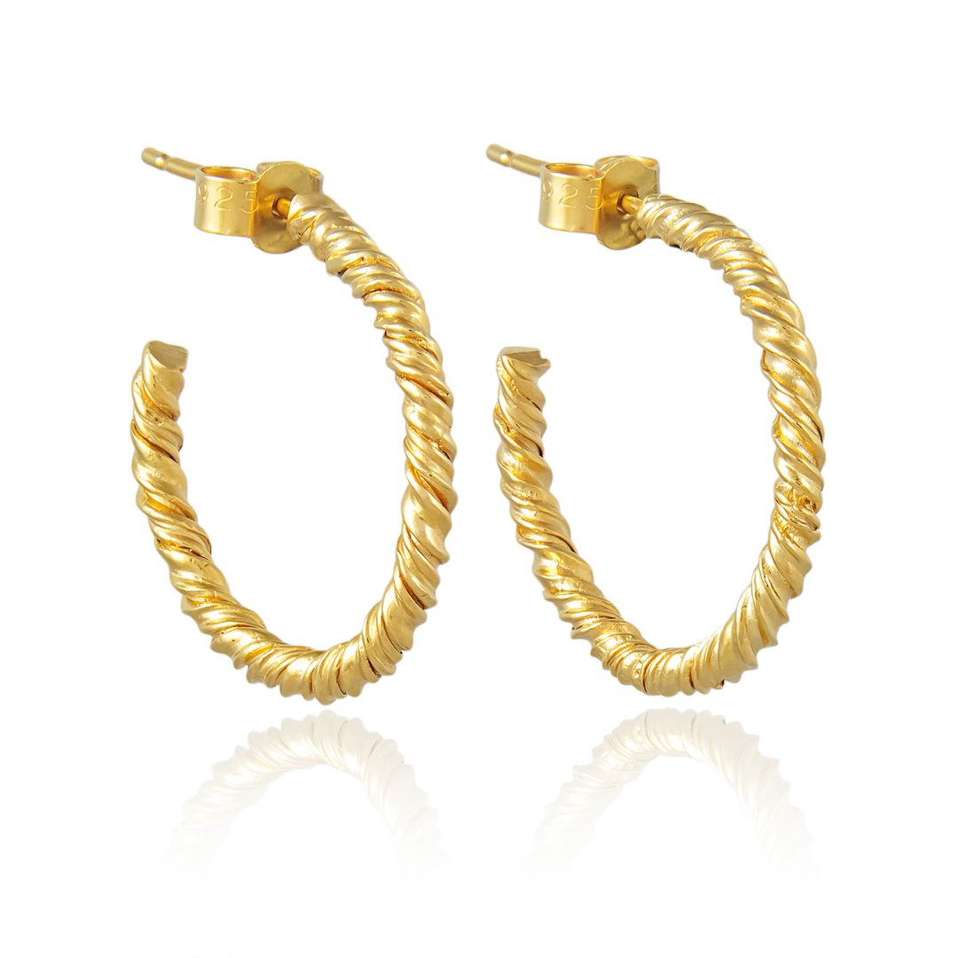 Natalie Perry Jewellery, Organic Twisted Hoop Earrings