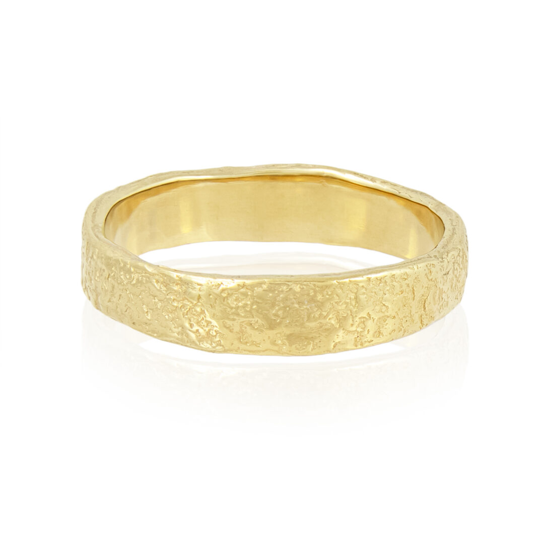 Natalie Perry Jewellery, 4.5mm organic wedding ring