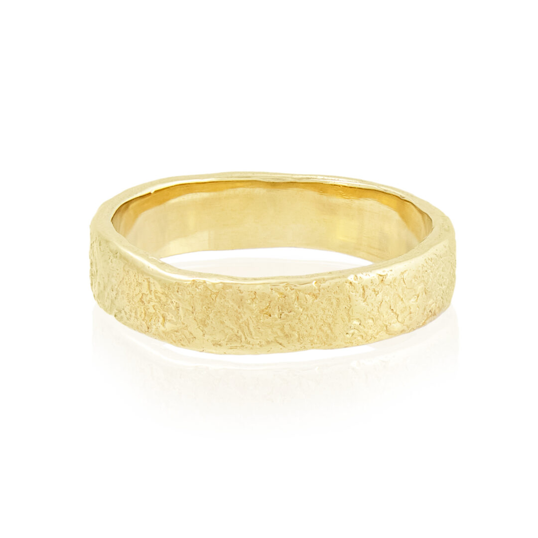 Natalie Perry Jewellery, 5mm organic mens wedding ring
