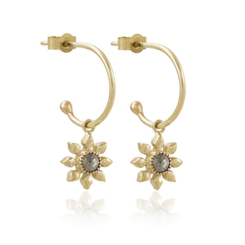 Natalie Perry Jewellery, Diamond Flower Hoops