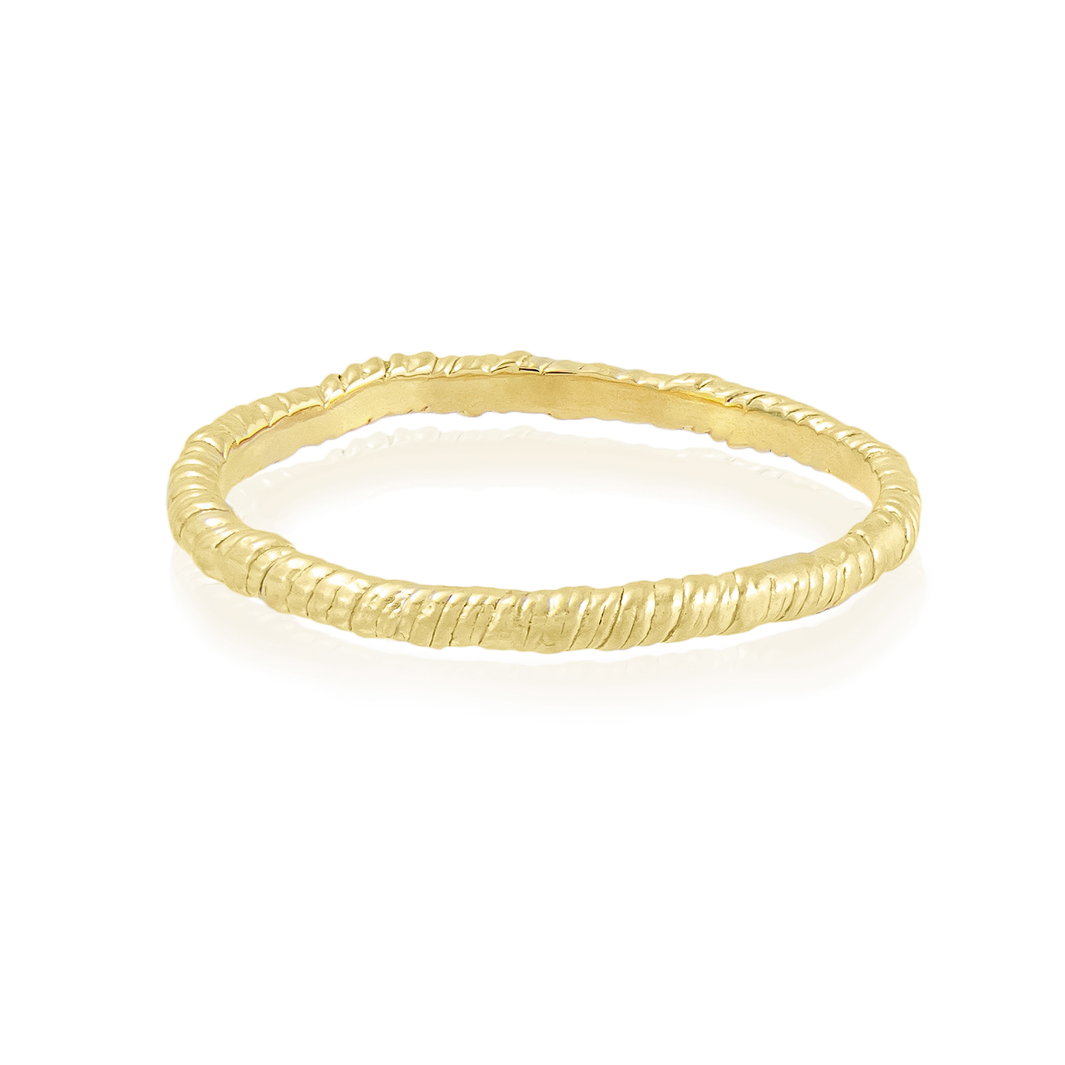Natalie Perry Jewellery, Organic Twisted Ring 1.5mm