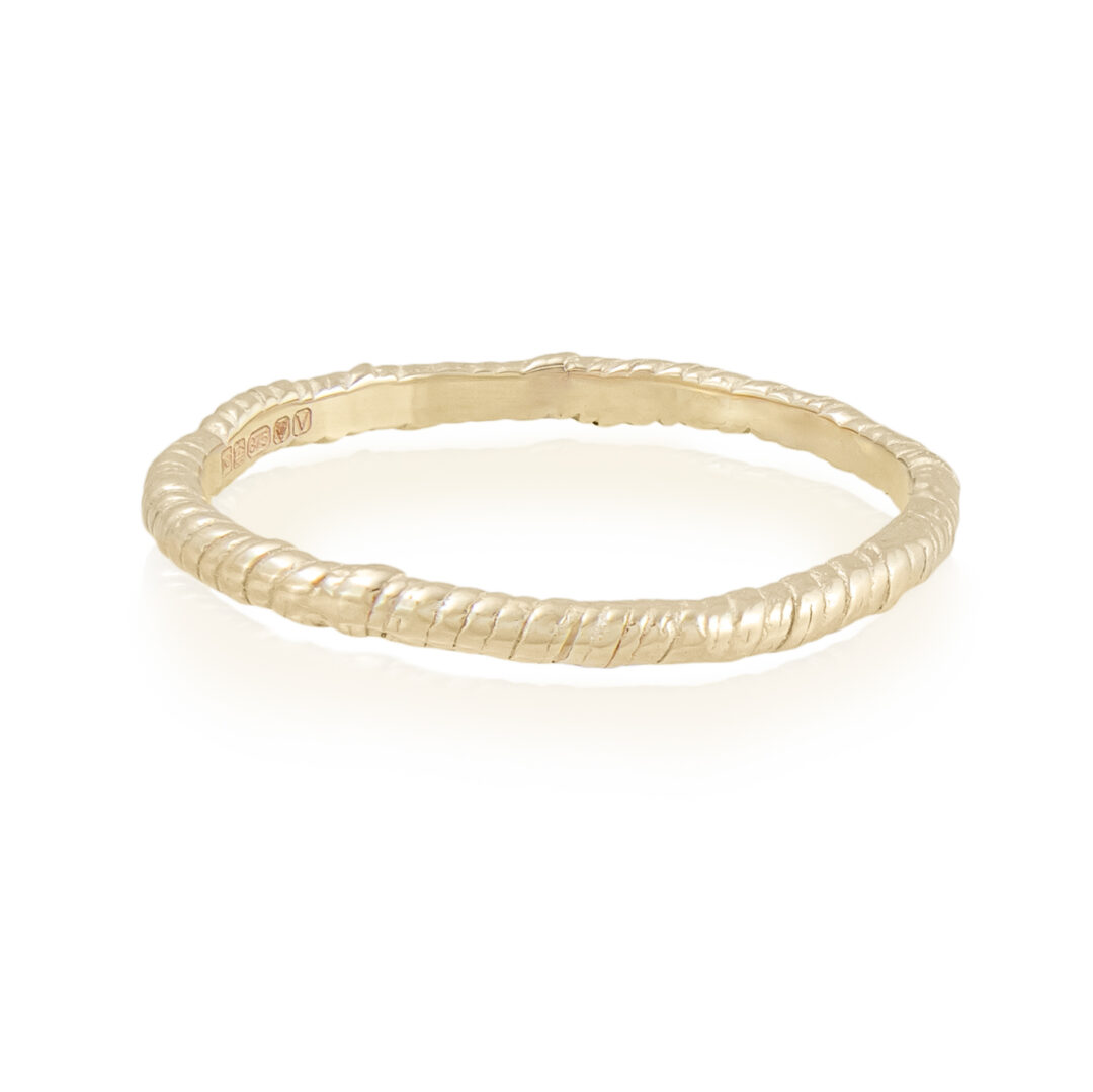 Natalie Perry Jewellery, Organic Twisted ring 1.5mm 9ct