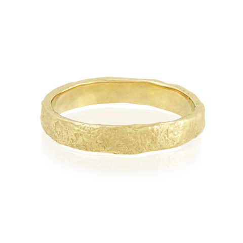 Natalie Perry Jewellery, Organic Wedding Ring 3.5mm