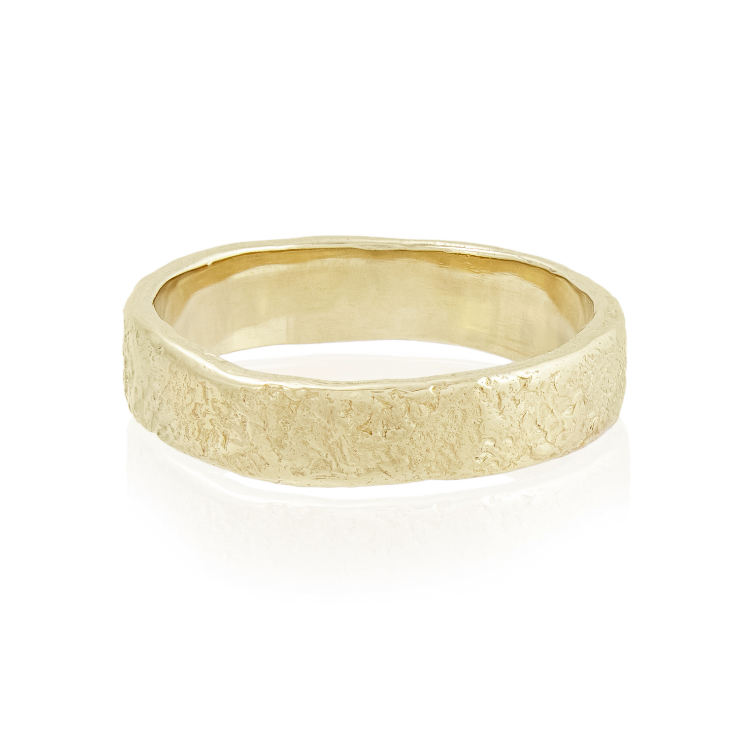 Natalie Perry Jewellery, 5mm organic wedding ring 9ct