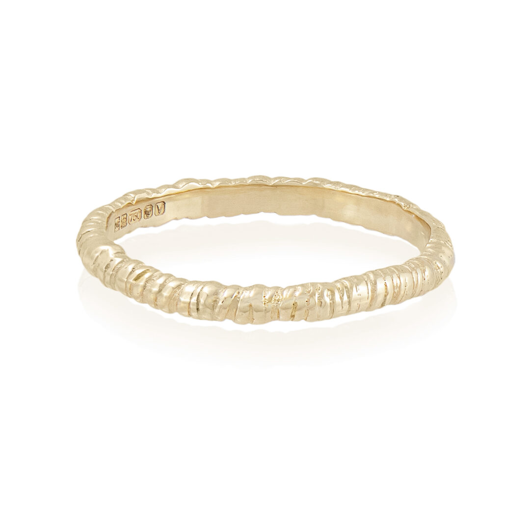 Natalie Perry Jewellery, Organic Twist Ring 2mm 9ct gold