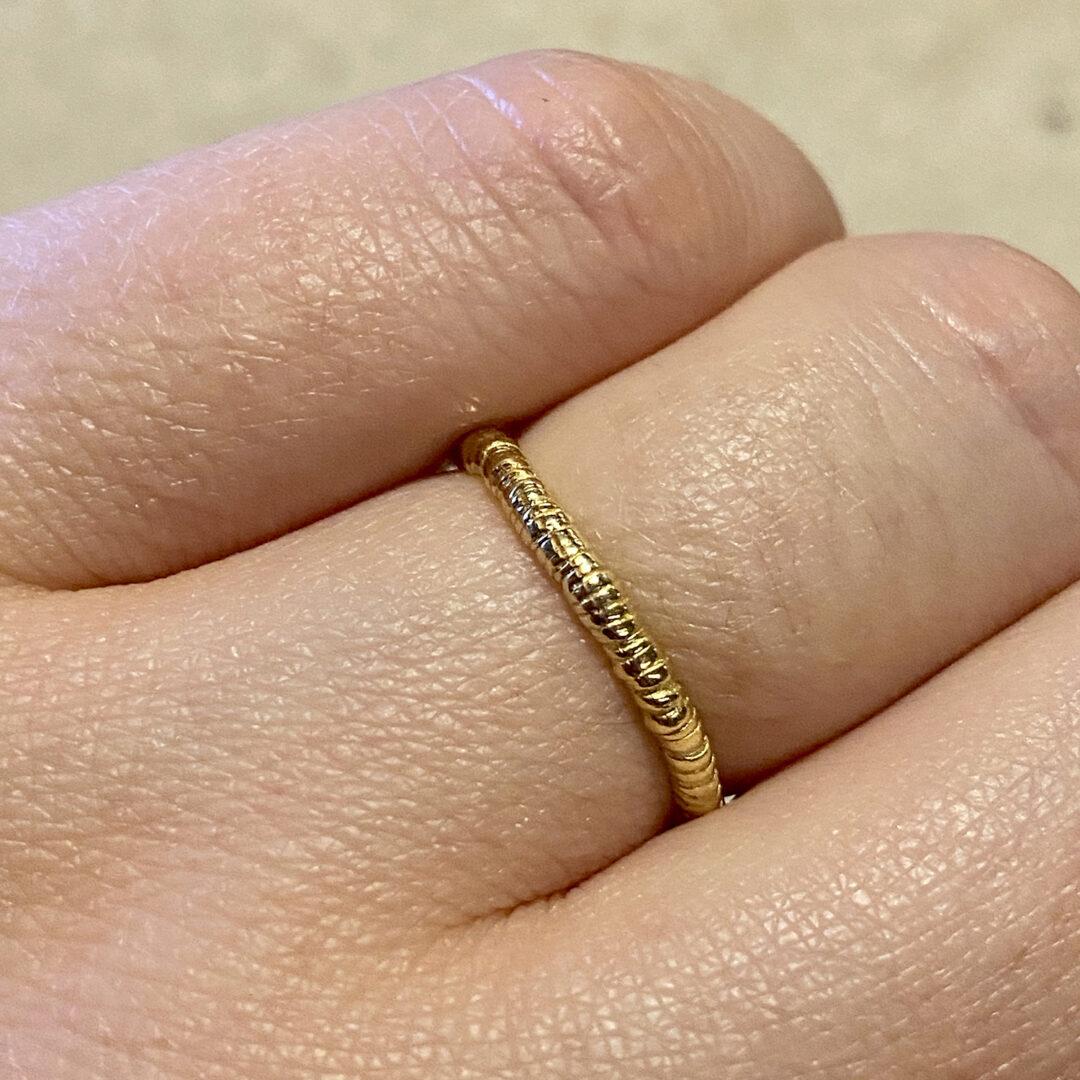 Natalie Perry Jewellery, Organic Twist Wedding Ring 18ct gold
