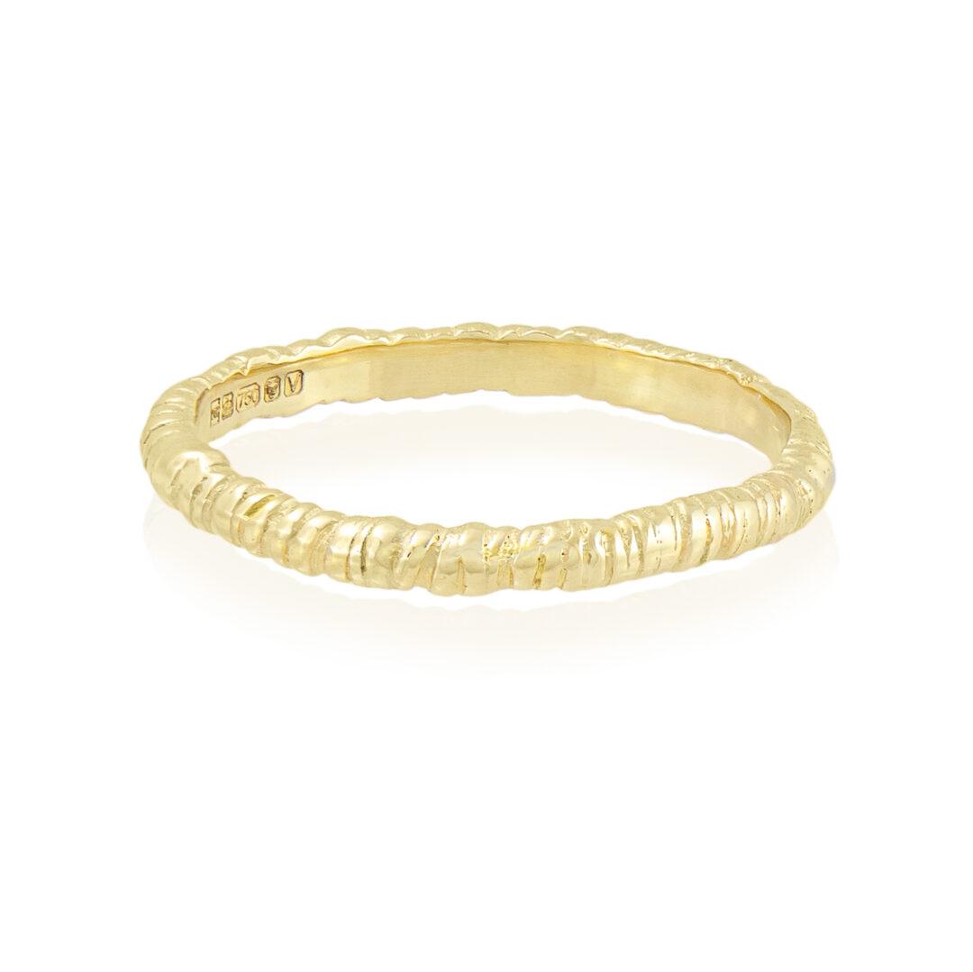 Natalie Perry Jewellery, Organic Twist Wedding Ring 2mm