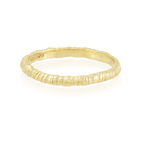 Natalie Perry Jewellery, Organic Twist Wedding Ring 2mm
